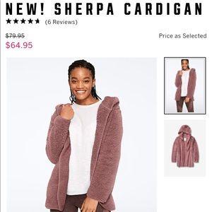 PINK sherpa cardigan